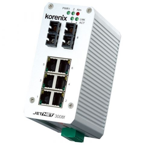 Endüstriyel 8-port Fiber Switch - Korenix JetNet 3008f