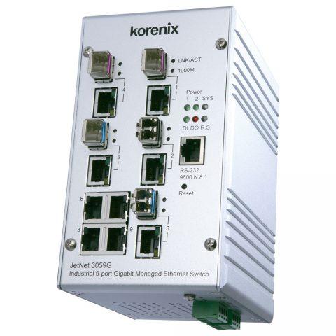 Endüstriyel 9 Port Gigabit Yönetilebilir Switch - Korenix JetNet 6059G