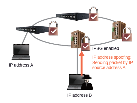 Advanced Cyber Security - IP Source Guard IPSG