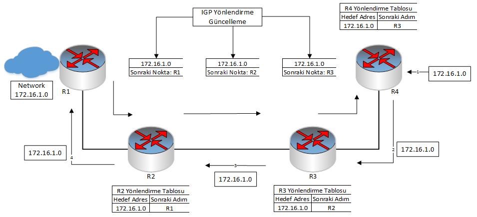 Geleneksel Data İletimi ve MPLS Data İletimi